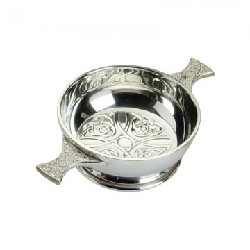"Edwin Blyde Celtic Collection 4"" Celtic Design Quaich Bowl"