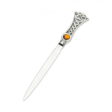 Edwin Blyde Celtic Collection Topaz Celtic Weave Letter Opener