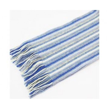 The Scarf Company 100% Cashmere 1 Ply Womens Scarf - Blue