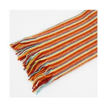 The Scarf Company 100% Cashmere 1 Ply Womens Scarf - Orange