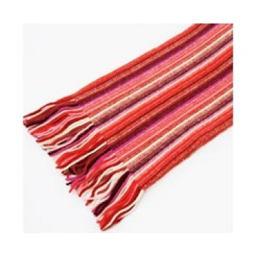 The Scarf Company 100% Cashmere 1 Ply Womens Scarf - Red