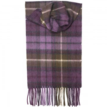 Buchanan Heather Tartan 100% Cashmere Scarf by Lochcarron of Scotland