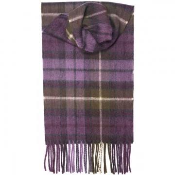 Buchanan Heather Tartan 100% Cashmere Scarf by Lochcarron of Scotland