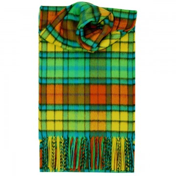 Buchanan Bright Tartan 100% Cashmere Scarf by Lochcarron of Scotland