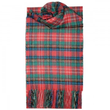 Christie Ancient Tartan 100% Cashmere Scarf by Lochcarron of Scotland