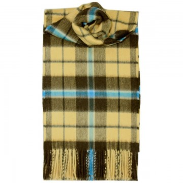 Douglas Olive Tartan 100% Cashmere Scarf by Lochcarron of Scotland