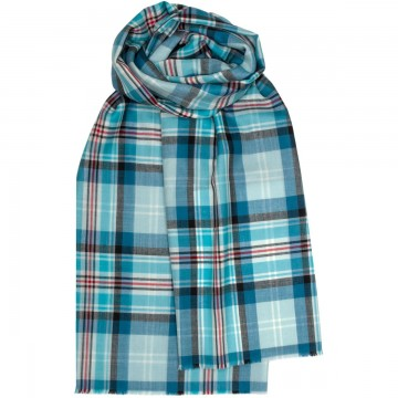 Lochcarron Princess Diana Memorial Tartan Merino Wool Stole / Pashmina - Made in Scotland