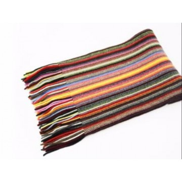 Mixed Stripes 2 Ply Cashmere Scarf from The Scarf Company - Made in Scotland