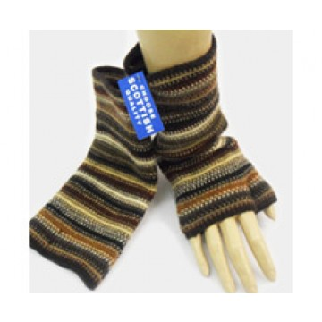 The Scarf Company 100% Lambswool Ladies Wristlets - Brown
