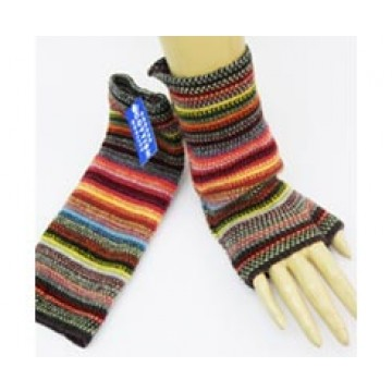 The Scarf Company 100% Lambswool Ladies Wristlets - Multi Colour