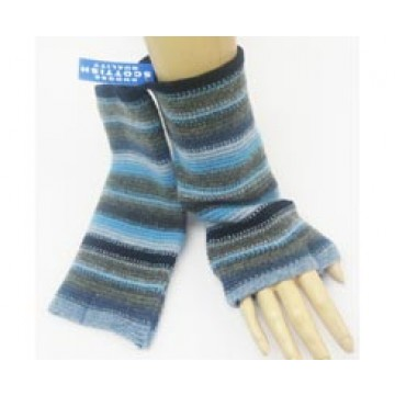 The Scarf Company 100% Lambswool Ladies Wristlets - Navy