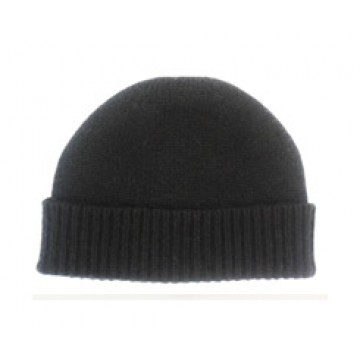 The Scarf Company Black Cashmere Beanie Hat