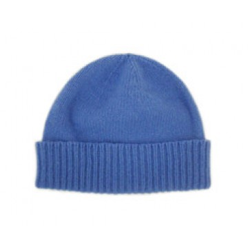The Scarf Company Isafahn Blue Cashmere Beanie Hat