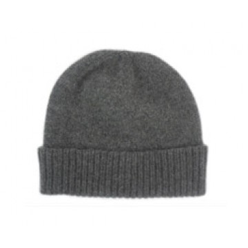 The Scarf Company Derby Grey Cashmere Beanie Hat