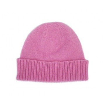 The Scarf Company Gossip Pink Cashmere Beanie Hat