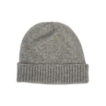 The Scarf Company Flannel Grey Cashmere Beanie Hat