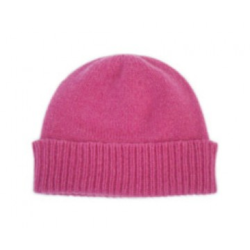 The Scarf Company Infra Pink Cashmere Beanie Hat