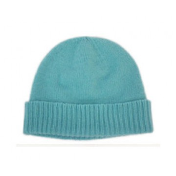 The Scarf Company Azure Turquoise Cashmere Beanie Hat