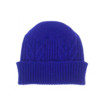 The Scarf Company 100% Cashmere 3 Ply Hat - Violet Cable