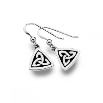 Celtic Trinity Knot Oxid Sterling Silver Earrings