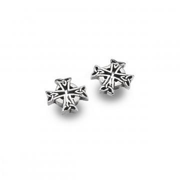 Celtic Cross Sterling Silver Stud Earrings