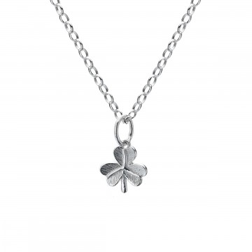 Celtic Shamrock Sterling Silver Pendant Necklace