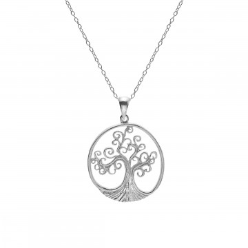 Celtic Spiral Tree of Life Sterling Silver Pendant Necklace