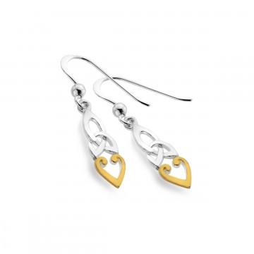 Celtic Trinity Knot Spear Shape Sterling Silver Earrings