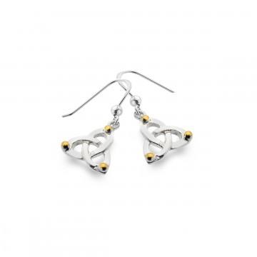 Celtic Trinity Knot & Balls Sterling Silver Earrings