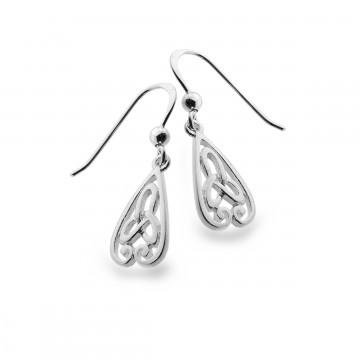 Celtic Trinity Knot & Spirals Sterling Silver Earrings