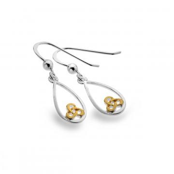 Celtic Trinity Knot Teardrop Sterling Silver Earrings