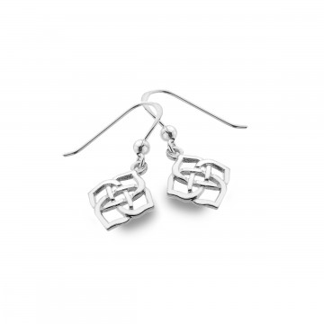 Celtic Knot 4 Point Sterling Silver Earrings