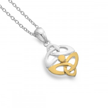 Celtic Trinity Knots Sterling Silver Pendant Necklace