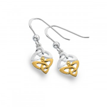 Celtic Trinity Knots Sterling Silver Earrings