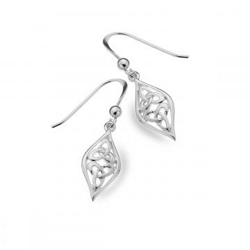 Celtic Two Trinity Knots Sterling Silver Earrings