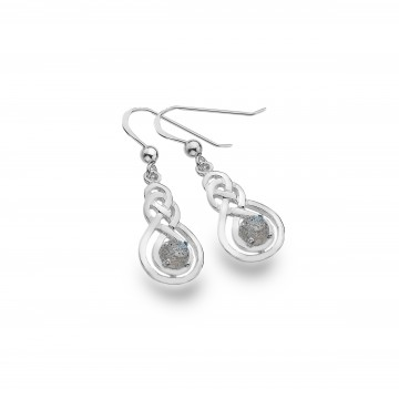 Celtic Double Knot & Labradorite Sterling Silver Earrings