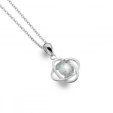 Celtic Knots Moonstone Sterling Silver Pendant Necklace