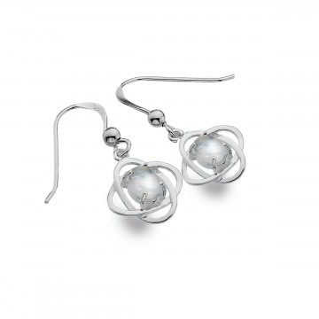 Celtic Knots & Moonstone Simple Sterling Silver Earrings
