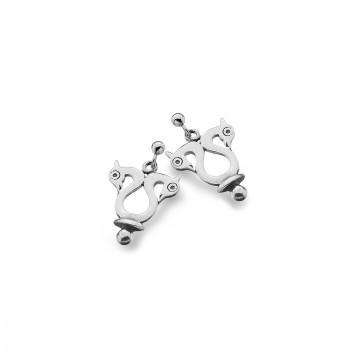 Celtic Viking Birds Sterling Silver Earrings