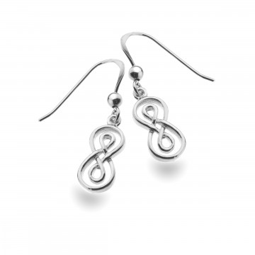 Celtic Double Infinity Knot Sterling Silver Earrings