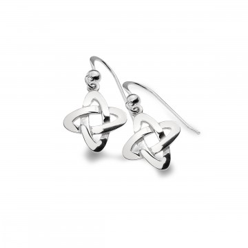 Celtic Knot Crossing Sterling Silver Earrings