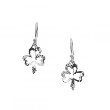 Irish Shamrock Sterling Silver Earrings