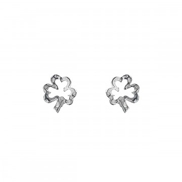Irish Shamrock Silver Stud Earrings