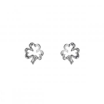 Irish Shamrock Silver Stud Earrings