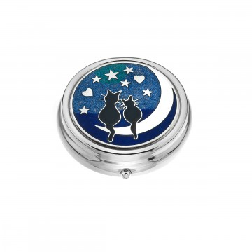Love Cats on The Moon Large Pill Box