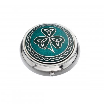 Celtic Shamrock & Trinity Small Pill Box