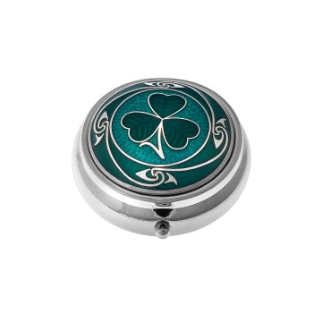 Celtic Shamrock & Coils Small Pill Box