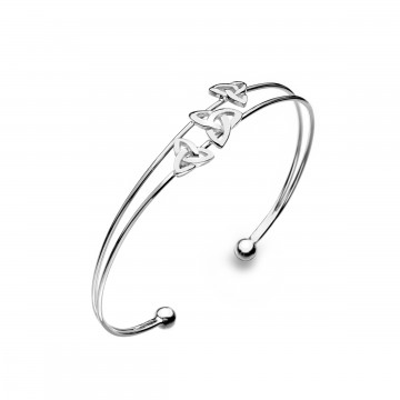 Trinity Knot 925 Sterling Silver Bangle