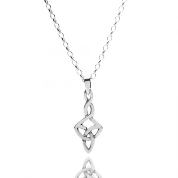 Celtic Trinity Knot Twisted Sterling Silver Pendant Necklace