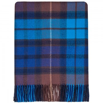 100% Lambswool Blanket in Buchanan Blue by Lochcarron of Scotland
